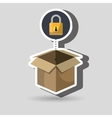 box padlock data secure vector image