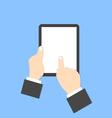Businessman holding a digital tablet vector image