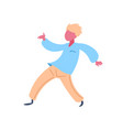 casual man character dancing pose isolated male vector image vector image