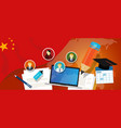 china education school university concept with vector image vector image