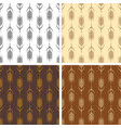 collection seamless repeating wheat patterns vector image