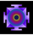 colored Sahasrara yantra vector image