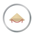 Conical hat icon in cartoon style isolated on vector image