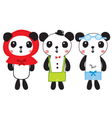 cute panda doodle vector image vector image