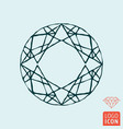 diamond icon brilliant line design symbol vector image
