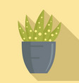 dotted succulent icon flat style vector image vector image