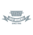 factory winery logo simple gray style vector image vector image