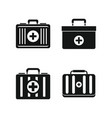 first aid kit icon set simple style vector image
