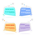 flat design web stickers tags banners and vector image vector image