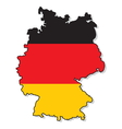 Germany map3 vector image vector image