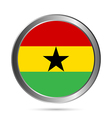 Ghana flag button vector image vector image