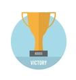 Golden trophy winner cup vector image vector image