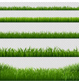 grass frame borders transparent background vector image vector image