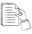 hands with paper document vector image vector image