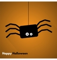 Happy Halloween Label with Spider vector image vector image
