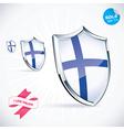 I Love Finland Flag vector image