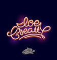 ice cream lettering candy volumetric typography vector image vector image