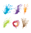 Ink Color Brush vector image vector image