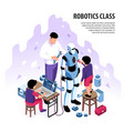 Isometric robotics workshop background