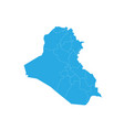 map of iraq high detailed map - iraq vector image vector image