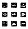 Message icons set grunge style vector image vector image
