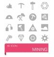 mining icon set vector image