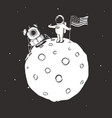 mission to moon vector image vector image