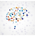Molecular structure in the form of brain vector image vector image