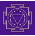 monocrome outline Tara yantra vector image