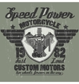 Motorcycle engine riders team emblem graphic vector image vector image