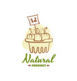natural product badge design vector image vector image
