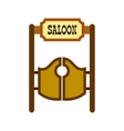 Old western swinging saloon doors icon vector image vector image