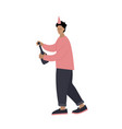 people character at party flat vector image