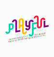 playful style font design childish alphabet vector image vector image