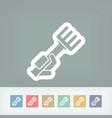 rake icon vector image