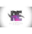 re r e zebra texture letter logo design vector image vector image