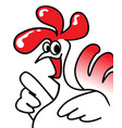 rooster who knows answers simple drawing vector image
