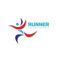 runner human - concept business logo design sport vector image
