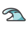 sea wave rushing icon cartoon vector image