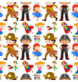 seamless background design for kids in different vector image vector image