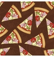 Seamless pattern scetch and color pizza vector image vector image