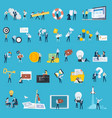 set flat design style people icons vector image vector image