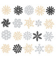set of snowflakes holiday collection snowflakes vector image