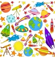 Space colored seamless pattern vector image vector image