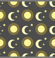 sun burst star background seamless pattern vector image
