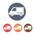 Transport vehicles on round icon vector image vector image