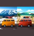 travel in van vector image vector image