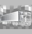 truck abstract lines design concept vector image vector image