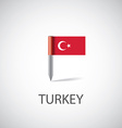 turkey flag pin vector image vector image