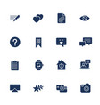 universal web icons to use in web and mobile ui vector image vector image